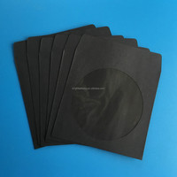100/120gsm Black Paper CD Sleeve with window and flap
