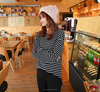 latest fashion Autumn Tops O-Neck Long Batwing Sleeve shirt for Woman's