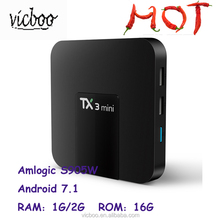 2017 Best Android 7.1 Amlogic S905W 1GB/2GB+16GB Stream Smart TV Box