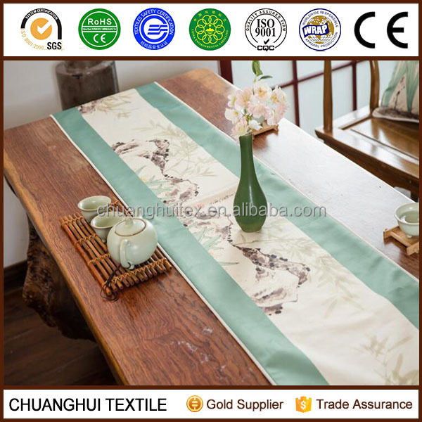 100% polyester printed dining table runner