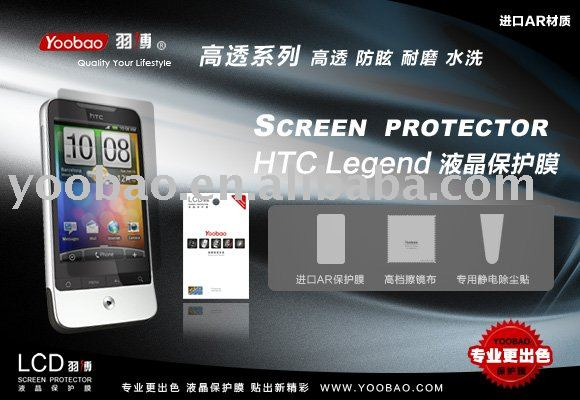 Transparent Screen Protector For HTC Legend G6 A6363