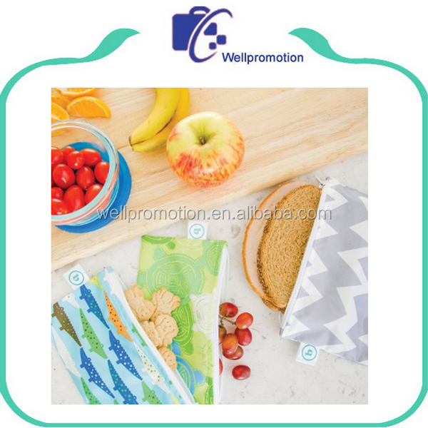 Decorative kids washable recycle snack foods packaging bag