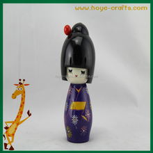 wooden handicrafts doll fashion kokeshi doll for sale