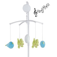 Baby Mobile Crib Rotate Bed Bell With Music Box