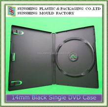 7mm 9mm 14mm black media standard single double multi storage DVD case with clips for a booklet