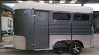 2 horse slant load deluxe horse trailer with kitchen and awning