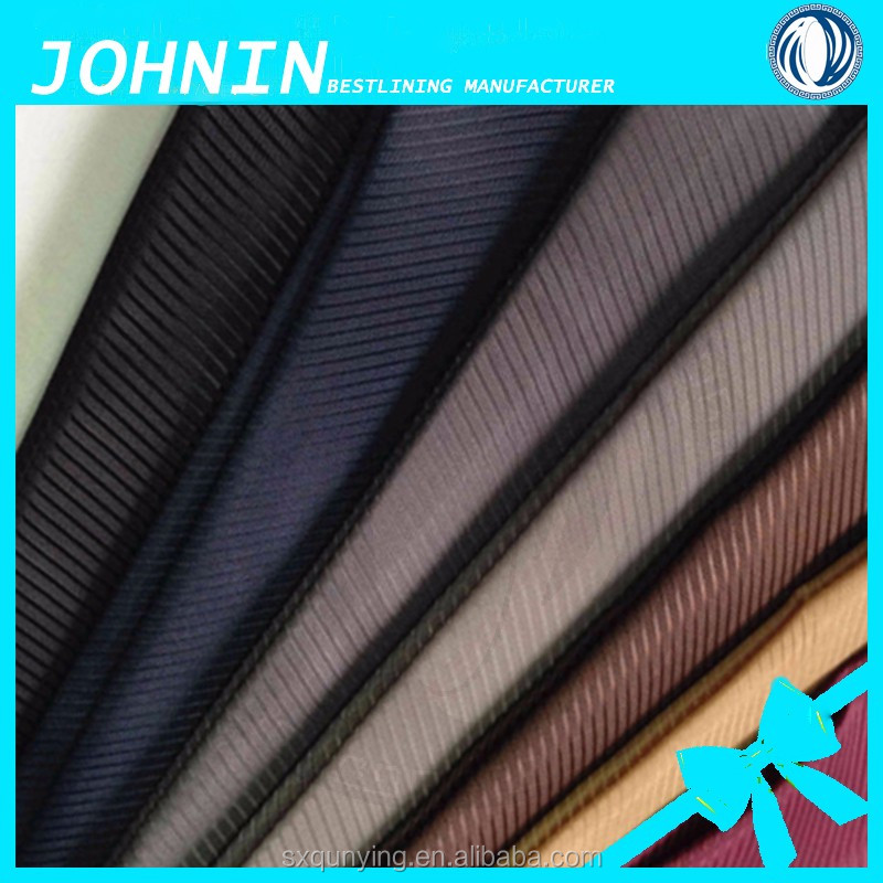 100% polyester lining fabric for wallet 190t polyester taffeta fabric price for suiting jacket lining