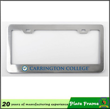 any colors engraved metal plates car license plate frame(HH-licence plate-(32)