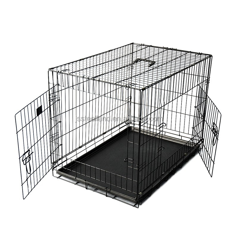 Hot selling Portable Folding iron large dog crate
