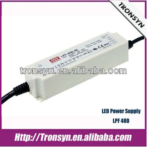 MeanWell Power Supply LPF-40D-42(40W 42V) Dimming LED Switching Power Supply and LED Driver With PFC Function