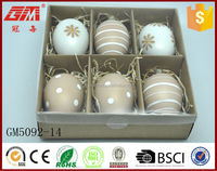 Easter decoration creative hand painted egg shape glass