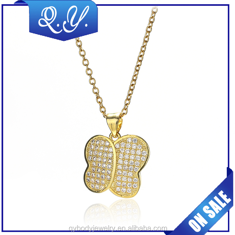 high quality gift stainless steel gold color women necklace women accessories