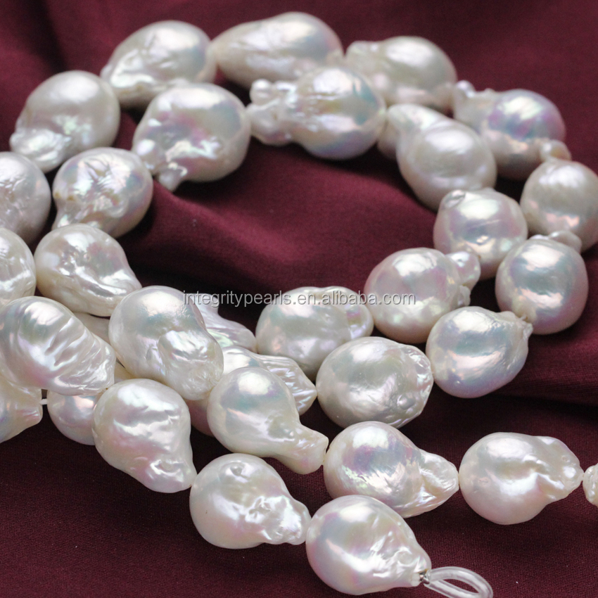 16mm AAA large size fresh water real cultured edison pearl strands