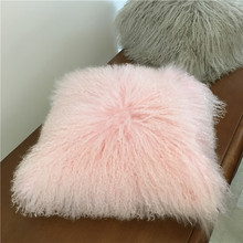 Hotel Christmas Gift Wholesale Lamb Fur Body Pillow