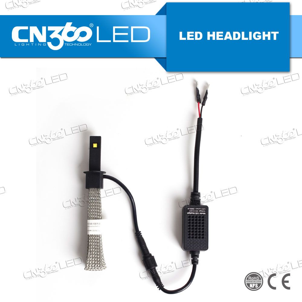 Car lights 25w 5000lumen automatic led headlight kit h1 for Sale