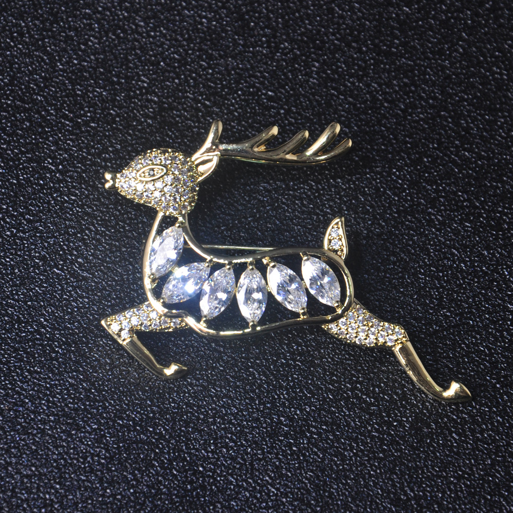 2018 Christmas jewelry two tone plated latest animal brooch designs for women