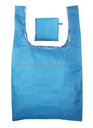 Budget polyester/nylon foldable polyester shopping bag With pocket