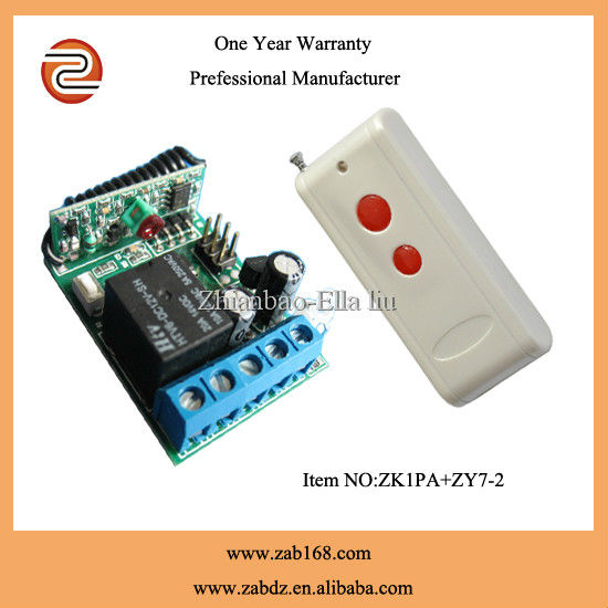 DC 12V 1ch 10A RF Wireless Remote Control Switch System, 1 Transmitter + 1Receiver,315MHZ /433 MHZ