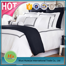 Top sale white 100% cotton the most popular embroidery bedding set/bed sheet sets