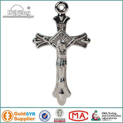 Wholesale Small Silver Jesus Metal Cross,Metal Crucifix