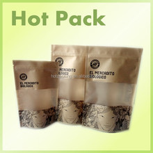 paper packaging for hamburger / kraft paper bag shopping bag