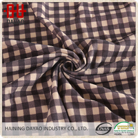100% Polyester plaid flannel car upholstery fabric