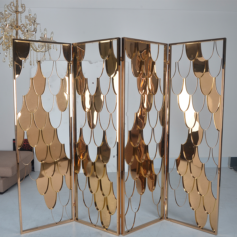 office dividers/room gold divider screen