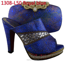 2015 new arrivals heels Italian shoes and matching bag set / crystal shoes and bags for women