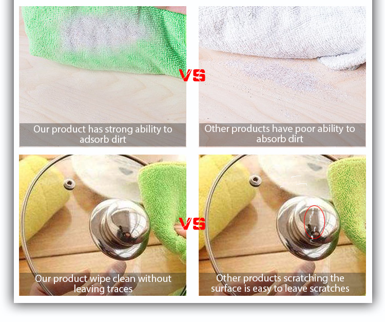 Hot sale in spot four color 30*30cm microfiber household cleaning towel