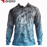 Custom Long Sleeve quick dry fishing shirts Wholesale performance sublimated polyester Fishing Shirts