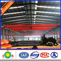 CE GOST Qualified China Crane Manufacture Workshop Electric Single Girder Overhead Crane 10 ton For Sale
