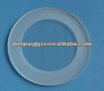 frosted round glass light cover with round edges