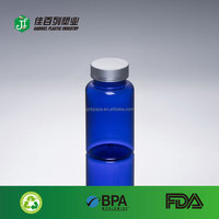 150ml blue color pill use bulk empty screw cap plastic dispensing bottles
