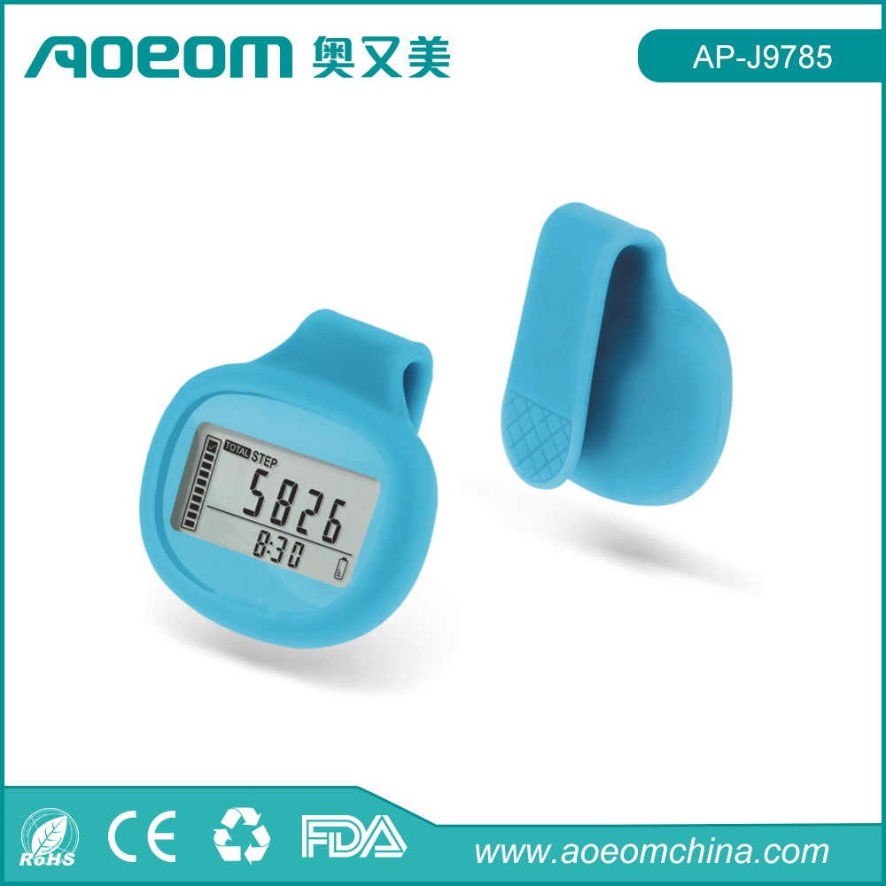 Digital multifunction fitness silicon cover 3D pedometer