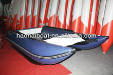 6 persons rigid inflatable high speed aluminum catamaran boat