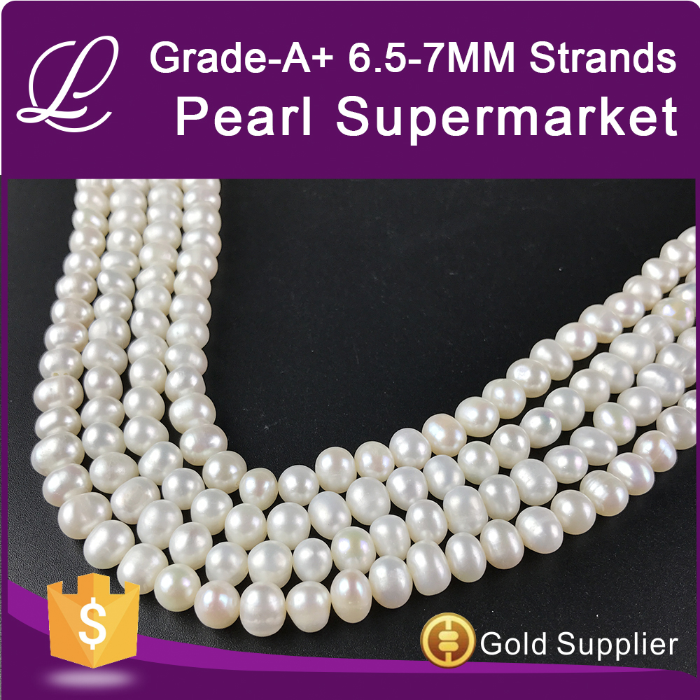 A+ 6.5-7mm genuine fresh water pearl necklace jewellery necklaces traditional fashionable accessories women fashion jewelry 2017
