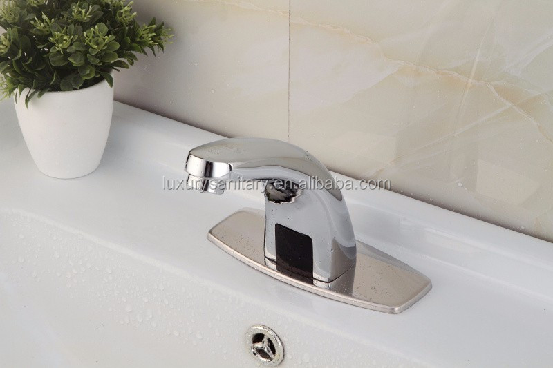 Pass CE ROHS certificate brass chrome non touch Infrared induction aotumatic sensormixer tap faucet