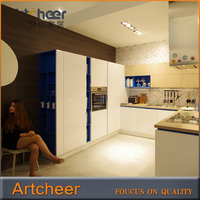 High gloos PU paint Particleboard Kitchen Cabinet best Price