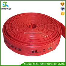 high pressure agricultural irrigation flexible pump water Rubber Yellow/Blue/Red Irrigation Lay Flat Hose