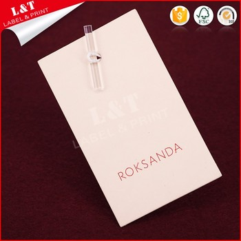 Printable Custom Coated Paper Wholesale Hang Tags For Clothing