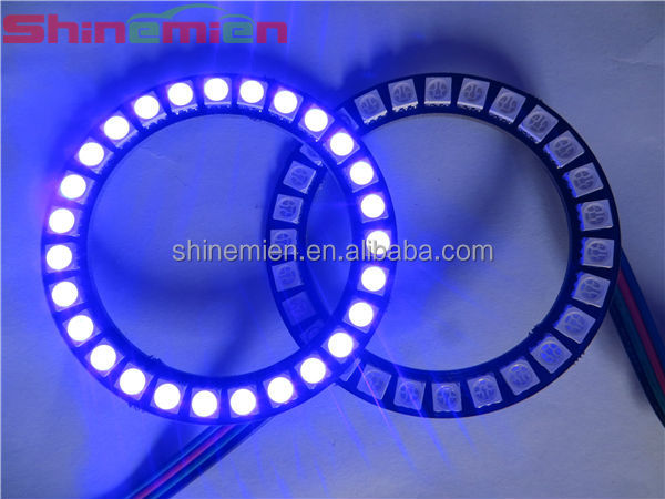 5050 smd RGB color led angel eye halo rings auto head lights 40mm 50mm 60mm 70mm 80mm 90mm 100mm