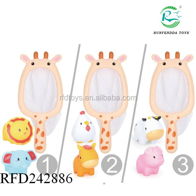 Wholesale floating animal plastic water play baby bath toy