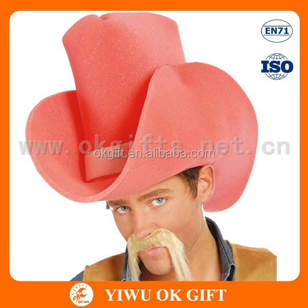 High quality pink cowboy hat,foam cowboy hat