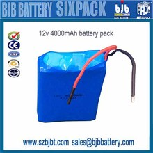 Rechargeable 12v 4000mah nmc battery ,12v battery pack 100wh,Shenzhen Factory