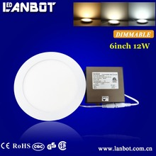 AC85-265V dimmable ultra thin China Huizhou square led panel video light square 12W