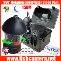 DHL Freeship 360 degree 150m PTZ underwater video camera for boat inspection