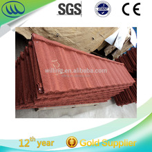Popular on Sale Classic Stone Coated Sheet Metal Steel Roofing Tile