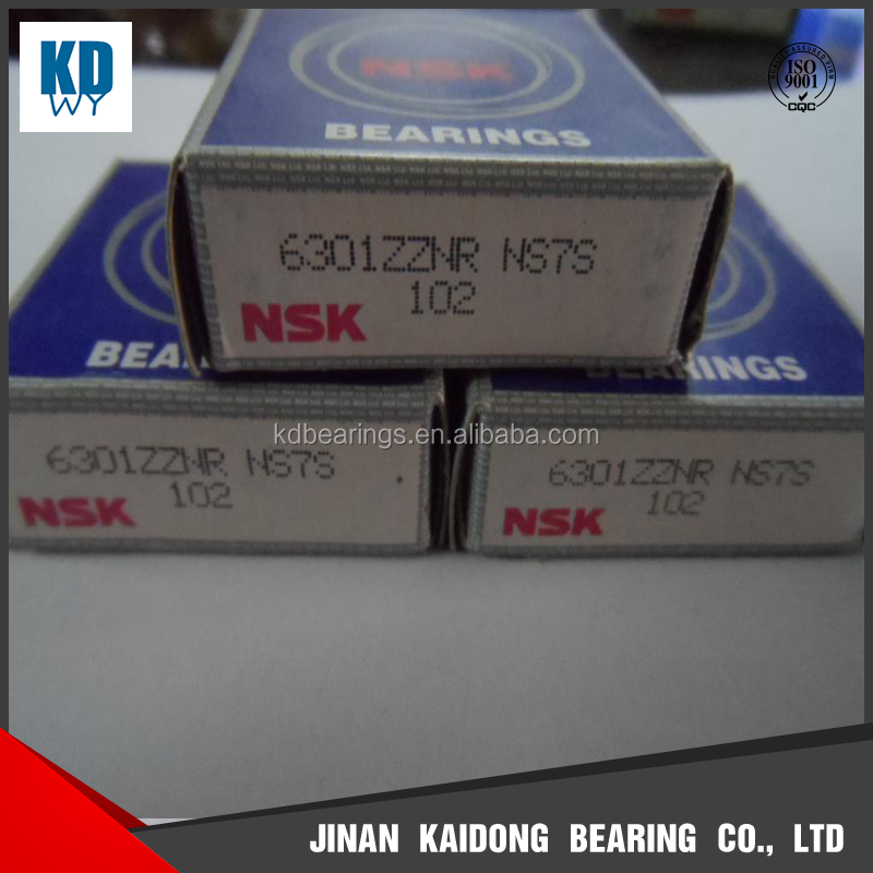 Japan deep groove ball thousands of bearings 6301 NSK 6301 ZZNR KOYO 6301 NTN 6301 size 50*110*27