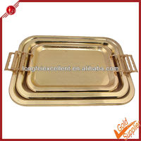 square shape With magnetic stainless steel serving food tray slate pizza serving plate