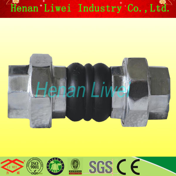 2 Inch Union Type Thread Flexible Rubber Expansion Joint Coupling